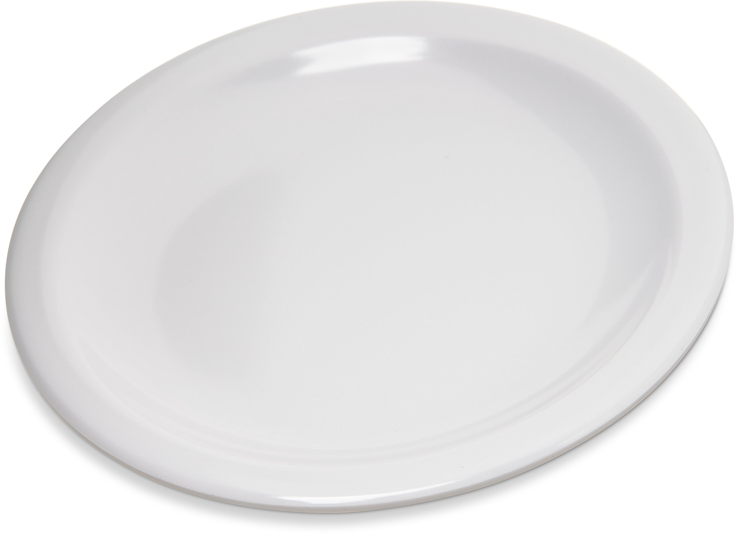 Carlisle 4350502 Dallas Ware Melamine Bread and Butter Plate, 0.66 x 5.58'', White (Case of 48)