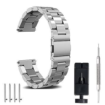 Samsung Gear S3 Frontier /Classic Correa, Correa De Reloj De 22mm, einBand Quick Release Premium Correa De Pulsera De Reemplazo De Negocios De Metal ...
