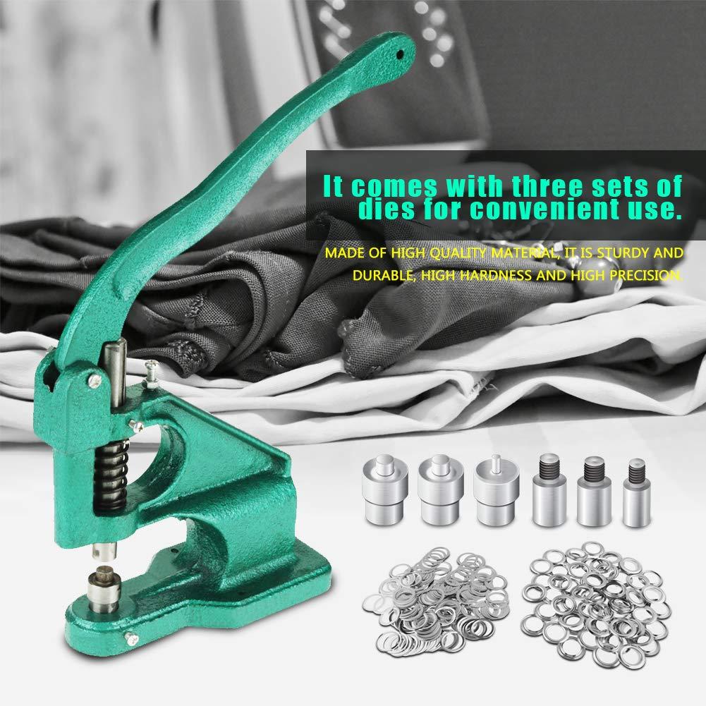 #2 Grommet Machine 600 Nickel Grommets Die Hole Punch Tool Hand Press Sign Banner