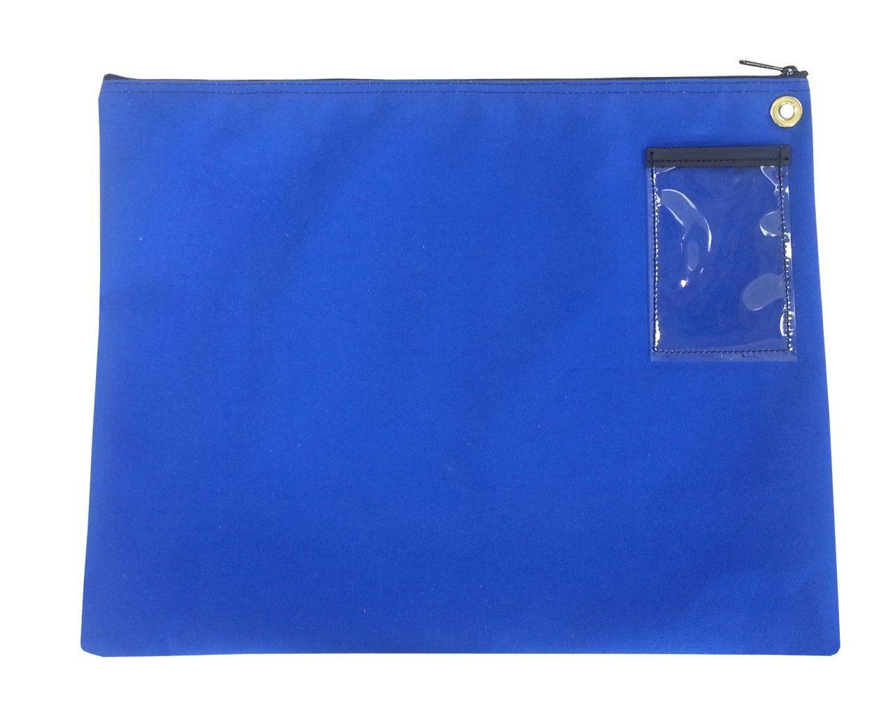 Interoffice Mailer Canvas Transit Sack Zipper Bag 18w x 14h Royal Blue