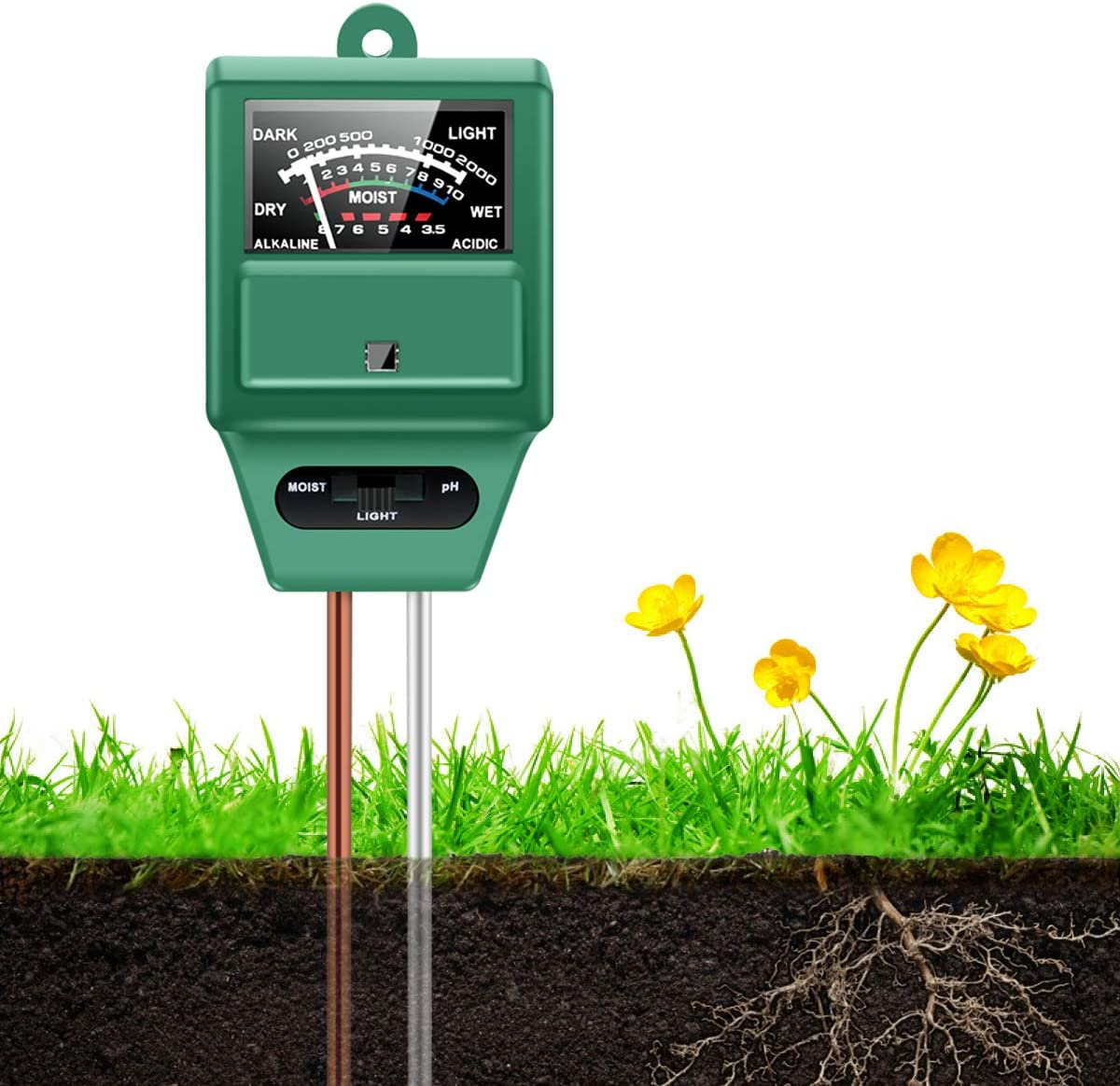Hayi 3-in-1 Soil Moisture Meter
