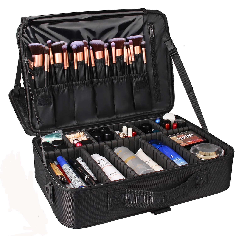 Maletin Para Maquillaje Profesional Negro Cosmetic Bags