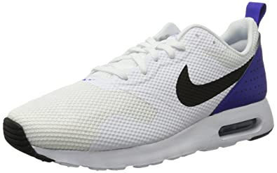 new style 8d57d c0b95 NIKE Men s Air Max Tavas White Black Paramount Blue Running Shoe 7.5 Men US