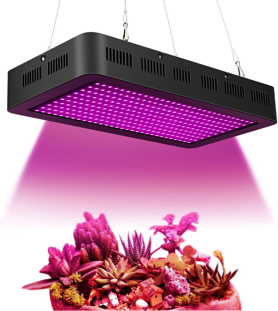 1500W Full Spectrum Grow Light 380 850nm Red UV IR Hydroponics Grow Light LED for Greenhouse Growing and Flowering