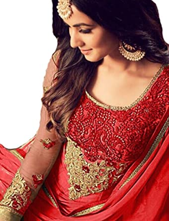 8a365e496d Amazon.com: Reddymade New Designer Ethnic Were Indian/Pakistani Anarkali  Suit New VF (Unstitched, Red): Clothing