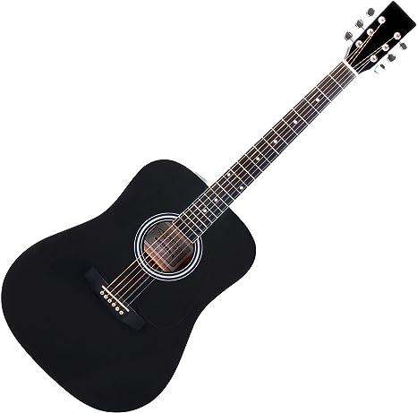 Classic Cantabile WS-10BK guitarra acustica (tipo oeste) negra ...
