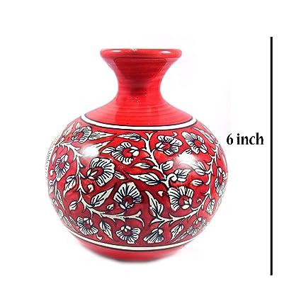 Amazon India Meets India Ru Type Handmade Ceramic Flower Vase