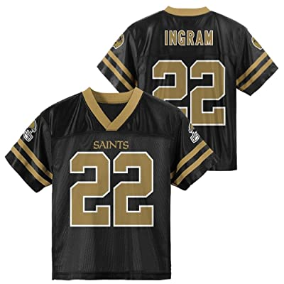OuterStuff Mark Ingram New Orleans Saints Black Youth Player Home Jersey