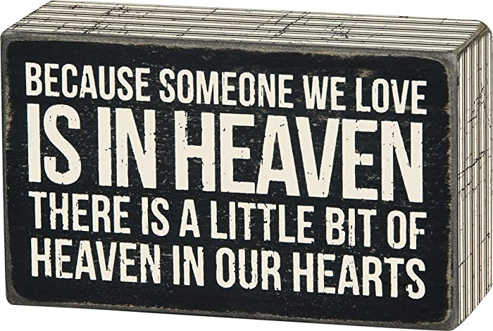 Primitives by Kathy Someone We Love in Heaven Bereavement Box Sign