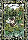 108ピース ジグソーパズル WACHIFIELD お寝坊な睡蓮【プリズムアート】(18.2x25.7cm)