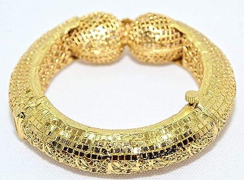 46a2fa72d Soni Single Hand Kada 24 Karat Gold Plated Traditional Bridal Jewellery  Bangles for Women (2.6