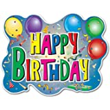 Beistle Home Party Decorations Happy Birthday Sign Printed 2 sides