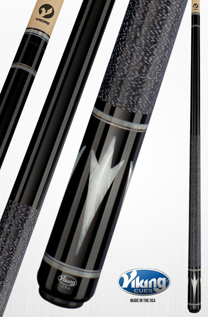 Viking A343 taco de billar palo negro manchas Birdseye Maple 4 blanco Premium Pearl incrustaciones negro (Ima) y blanco Pearl anillos liberación rápida ...