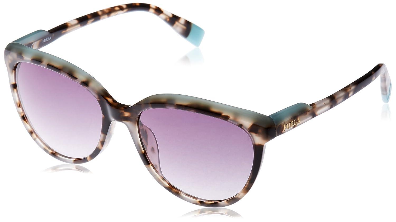 Furla Eyewear Mujer N/A Gafas de sol, Multicolor (White Havana+Shiny Black), 54