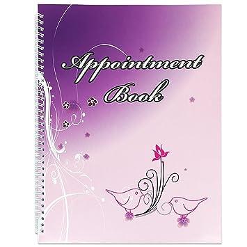 Amazon.com: 4 columnas libro de citas para salones, Spas, y ...