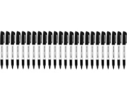 Amazon Basics Fine Point Tip Permanent Markers, Black, 24-Pack