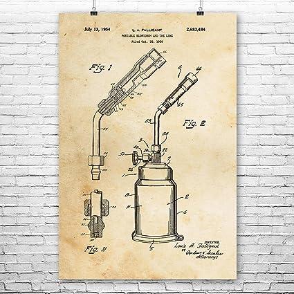 Amazon com: Blow Torch Poster Print, Welder Gift, Welding