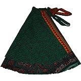 Wevez Wholesale Lot of 10 Pcs Indian Printed Reversible Art Silk Wrap Around Skirts