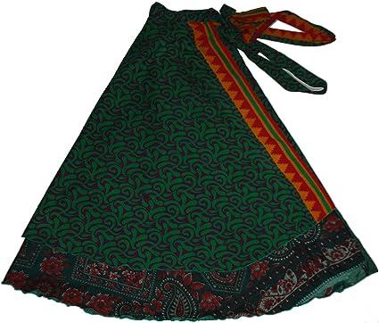 0f15881863a Wevez Women s Pack of 5 Plus Size Magic Wrap Sari Skirt