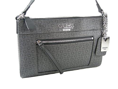 545adac74063 New Guess G Logo Purse Cross Body Shoulder Hand Bag Coal Black Aerial   Amazon.ca  Shoes   Handbags