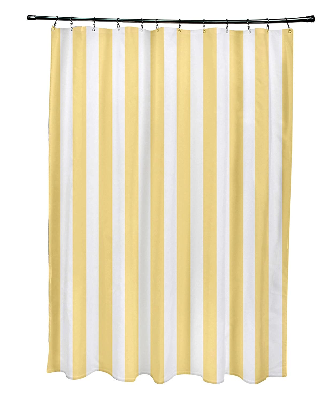 Lemon Ebydesign Striped Shower Curtain