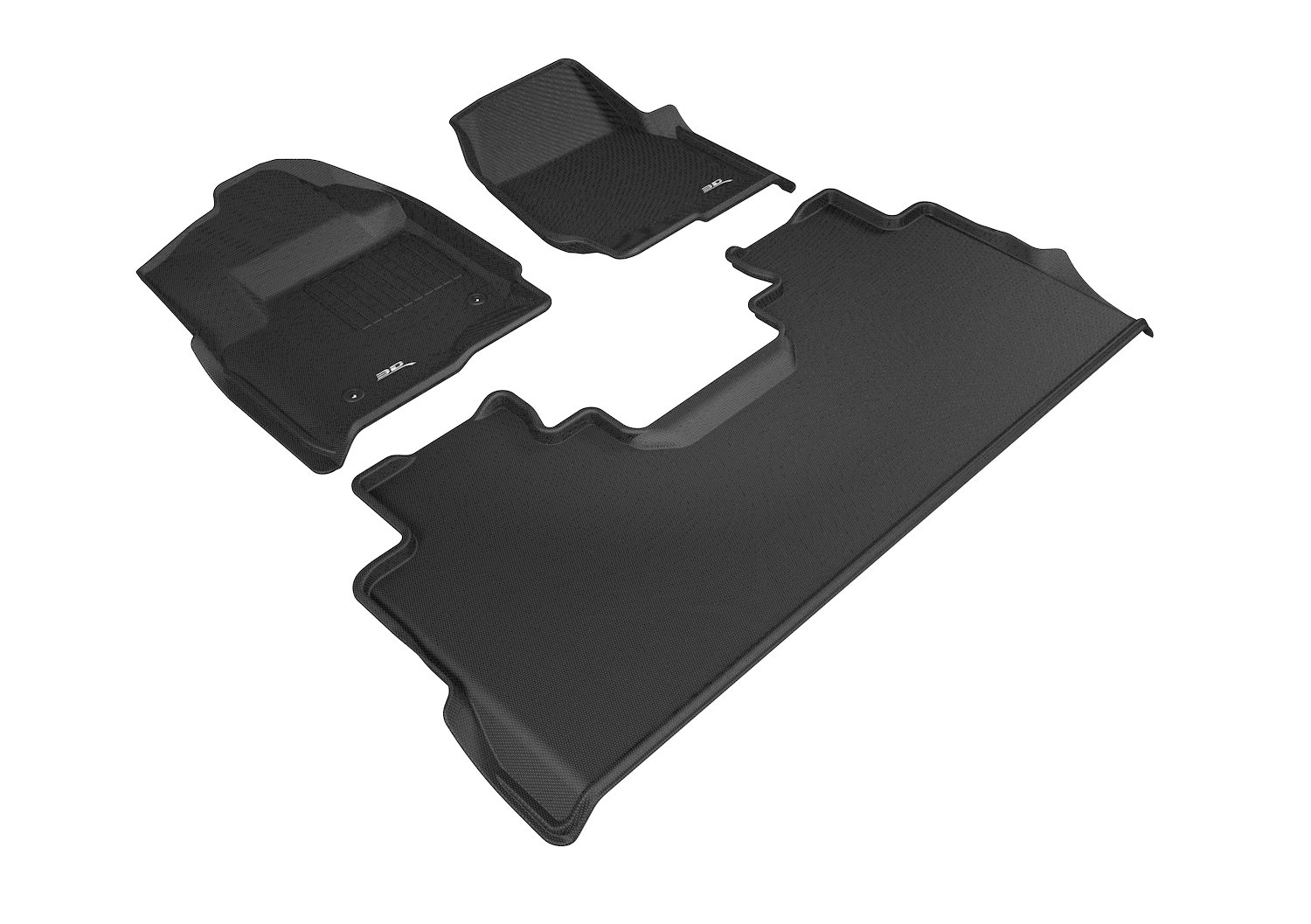 Black Kagu Rubber 3D MAXpider Complete Set Custom Fit All-Weather Floor Mat for Ford F-250//350//450 Crew Cab Models
