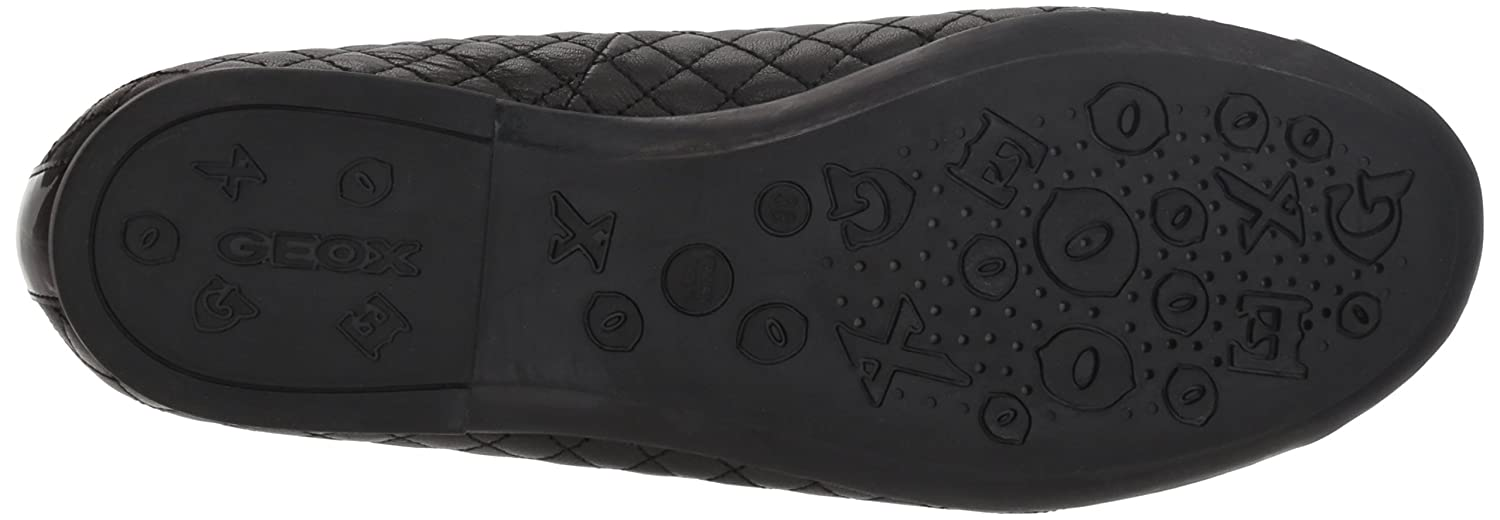 Geox Kids Plie 49 Quilted Leather Slip-on Ballet Flat Mary Jane