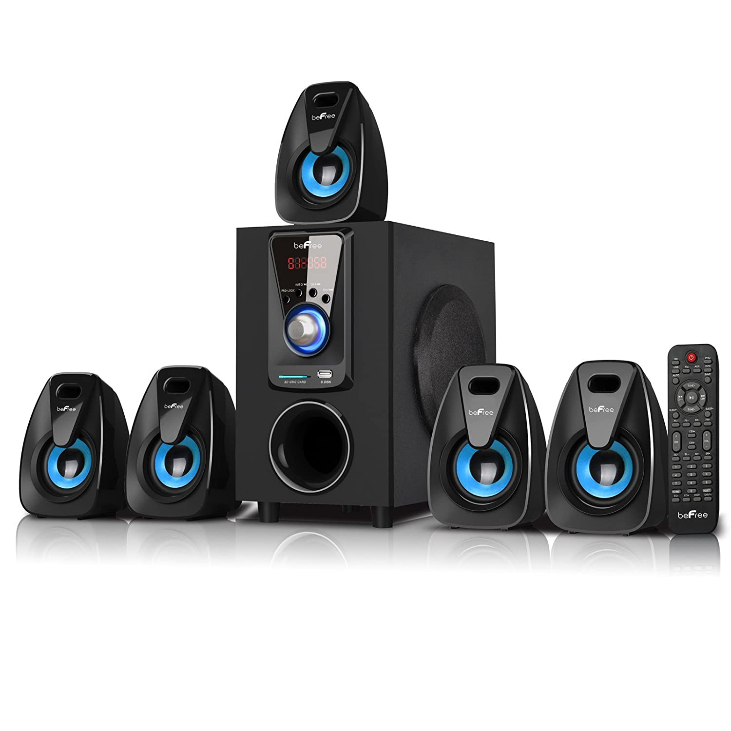 Bluetooth 5 1 ch home theater surround sound stereo system - Home cinema bluetooth ...