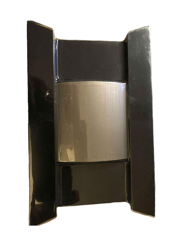 Wireless Or Wired Doorbell Hampton Bay 1001 411 352 1541025026 Heath Zenith Door Chime Wiring Diagram Bell Black With Brushed Nickel Accent