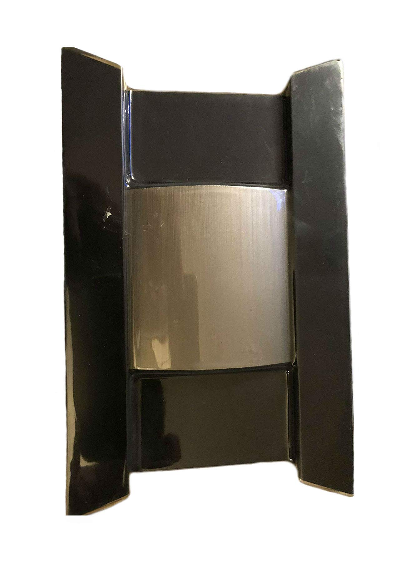 Wireless or Wired Door Bell, Black with Brushed Nickel Accent