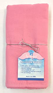 product image for NuAngel Receiving Blanket - 100% Cotton Flannel - Bubble Gum Pink