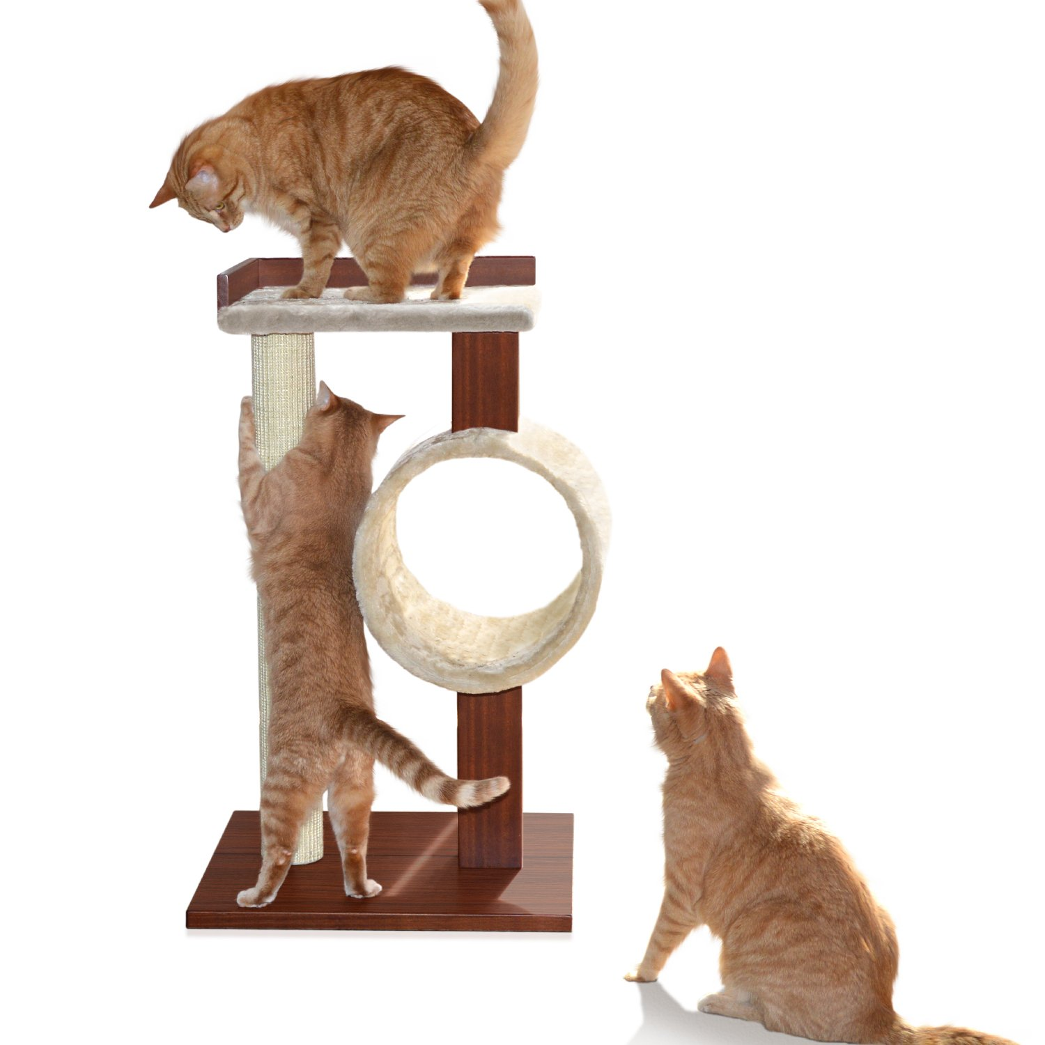[New] Petfusion Modern Cat Activity Tree & Scratching Post (Furniture