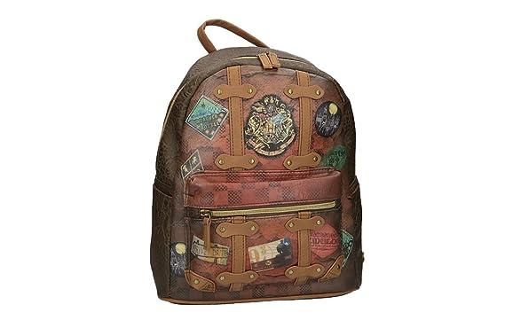 Mochila niña HARRY POTTER bolsa de ocio escolar marròn VZ796: Amazon.es: Ropa y accesorios