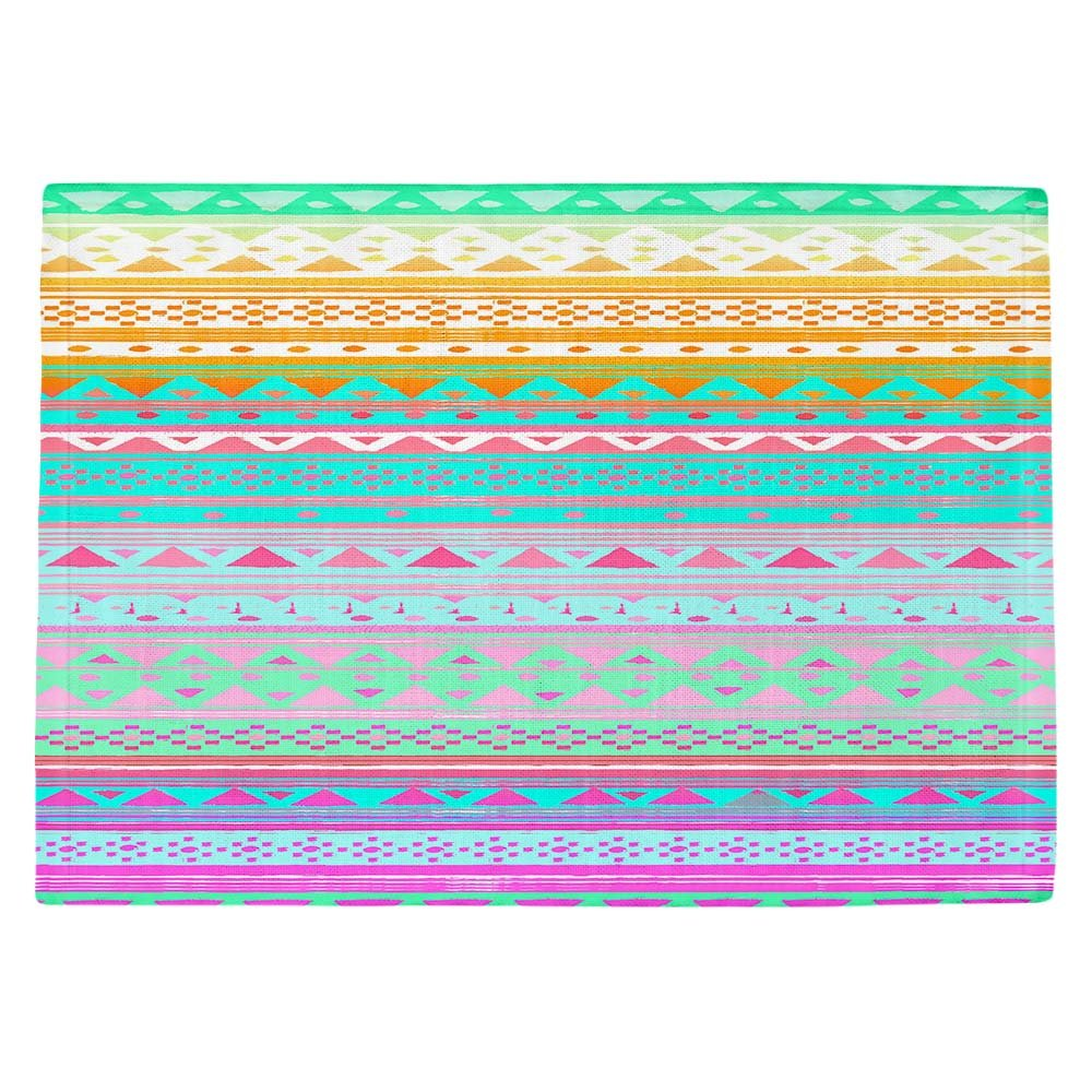DIANOCHEキッチンPlaceマットby Nika Martinez – 夏バンダナ Set of 4 Placemats PM-NikaMartinezSummerBandana2 Set of 4 Placemats  B01EXSHEV2