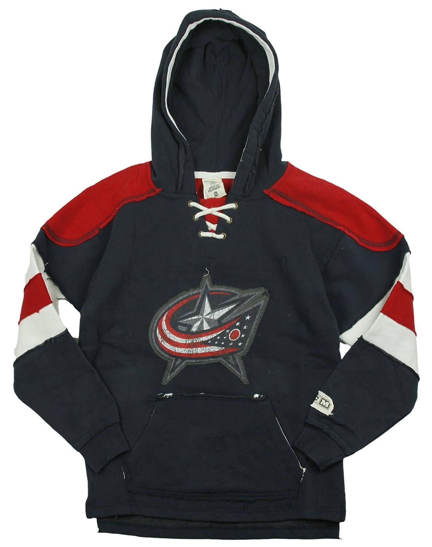 NHL Columbus Bluejackets Big Boys Youth Vintage Pullover Fleece Hoodie - Navy Reebok