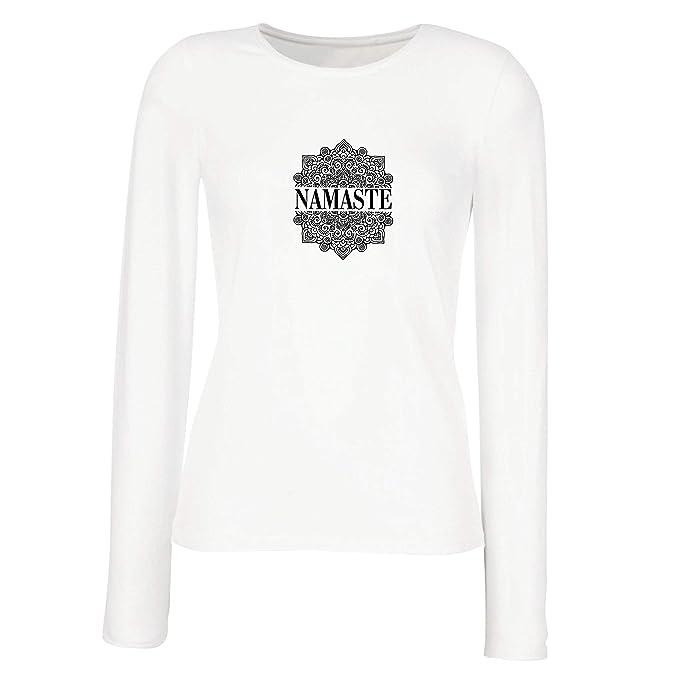 lepni.me Camisetas de Manga Larga para Mujer Meditación Yoga ...
