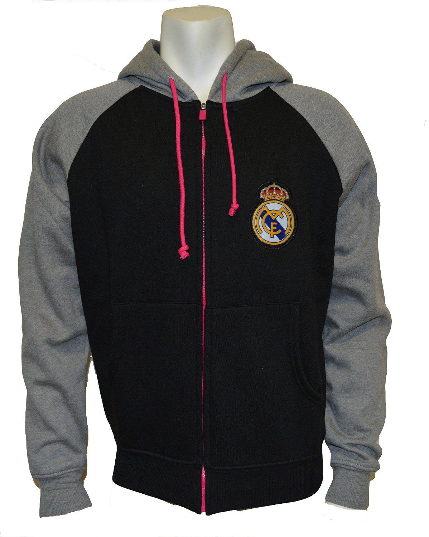Real Madrid FCファスナー付きフード付きsweatshirt-black / gray-xl   B00P7DNISG
