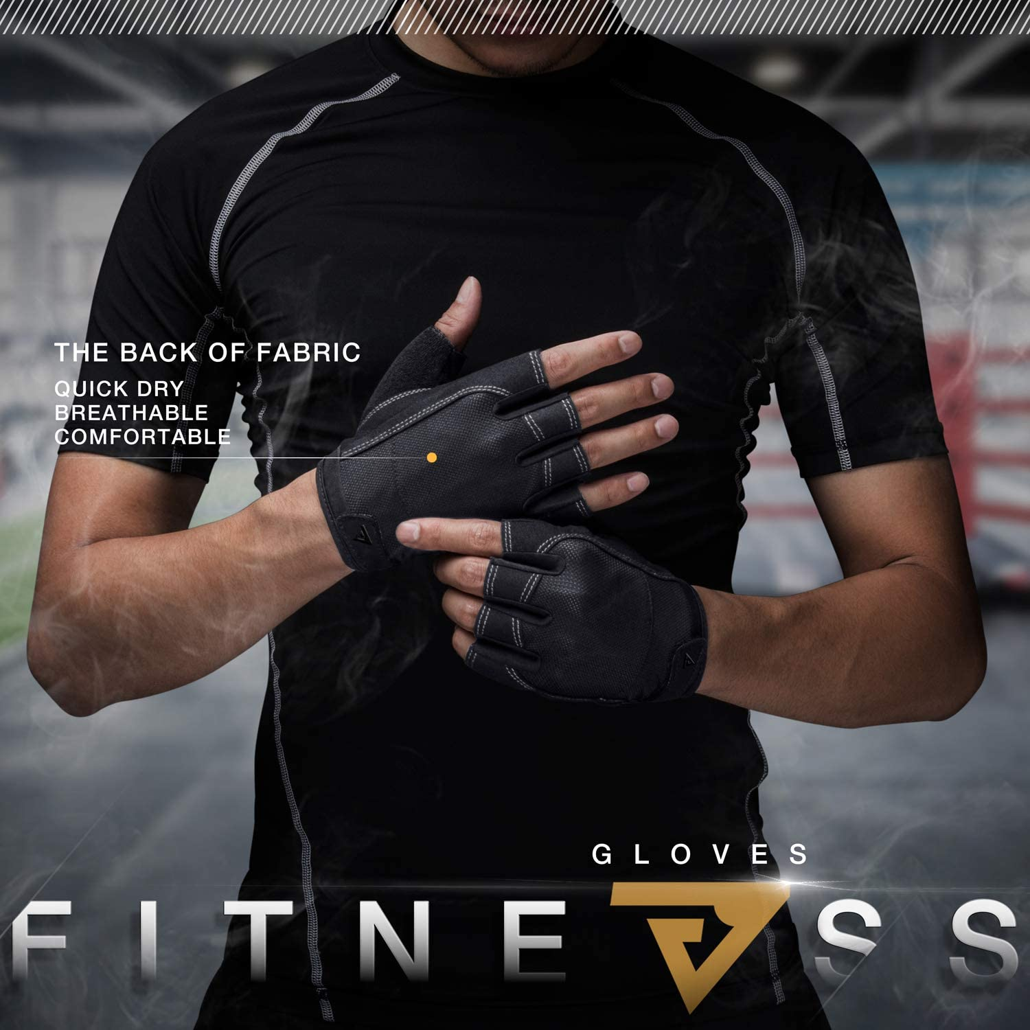 Gym Gloves with Wrist Support for Lifting Training Fitness Exercise Full Palm Protection /& Wrist Protection VIVIMI Weight Lifting Gloves Workout Gloves Men and Women
