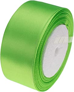 ATRBB 25 Yards 1-1/2 inch Wide Satin Ribbon Perfect for Wedding,Handmade Bows and Gift Wrapping(Apple Green)
