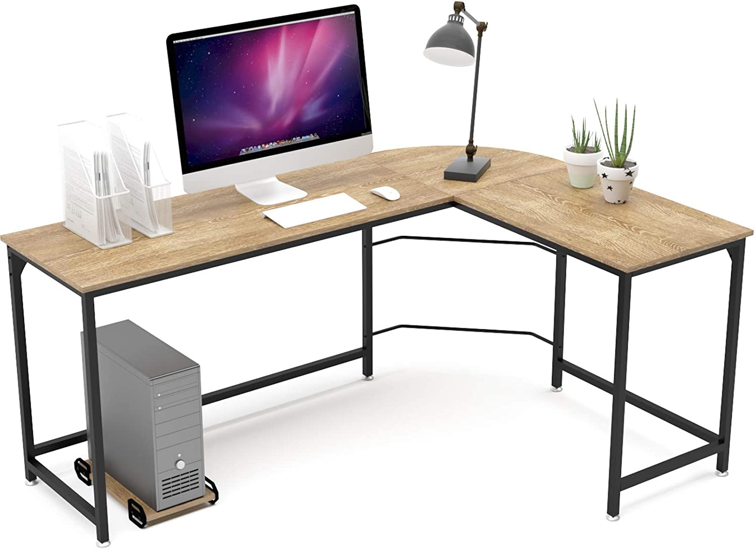 weehom reversible l shaped desk 66 inch