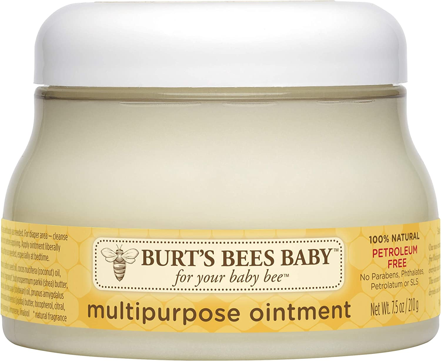 Burt's Bees Baby 100% Natural Multipurpose Ointment, Face & Body Baby Ointment – 7.5 Ounce Tub: Health & Personal Care