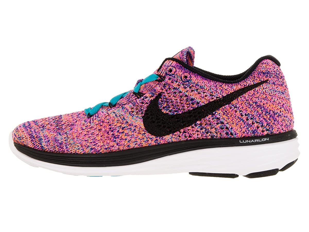 buy popular 29003 2589d Amazon.com   Nike Womens Flyknit Lunar3 Concord Black Gmm Bl Ttl Orng Running  Shoe 5 Women US   Road Running