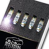 《Beyron Premium》 ベイロンLED 【T5 SMD1210 3連 12V 青】×10個(ブルー)(長寿命 50,000時間 車検対応)《244》