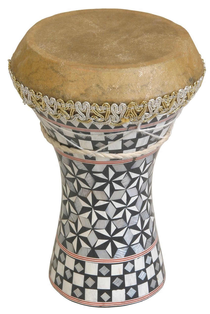 Mid-East Small Pretuned Mosaic Wooden Doumbek 6.5''x8.5''