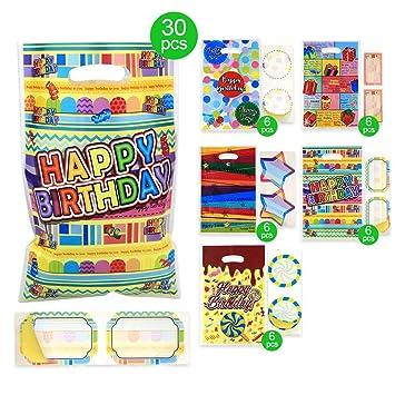 Amazon.com: Bolsas de regalo para fiestas de cumpleaños y ...