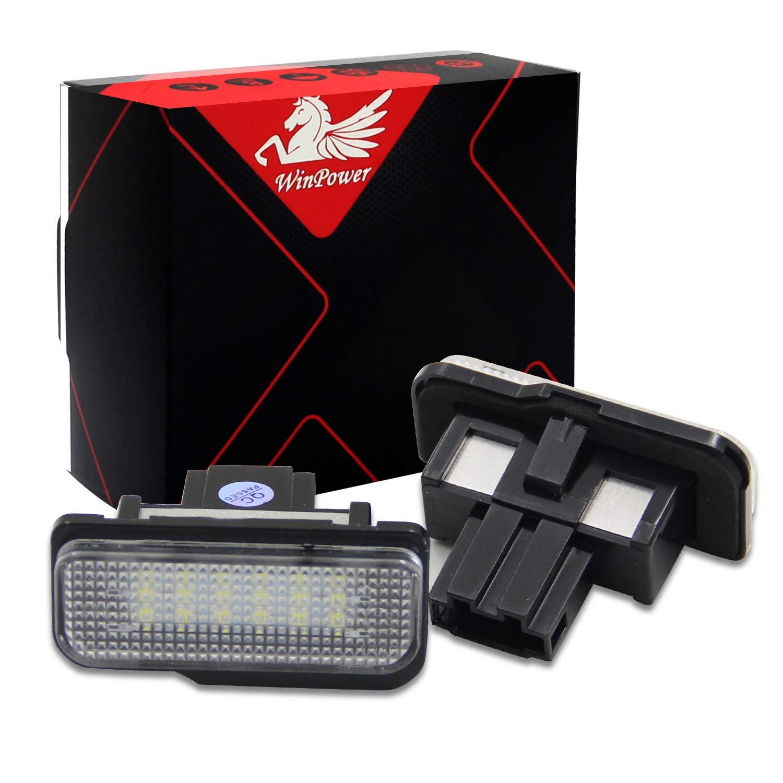 2 St/ücke WinPower LED Kennzeichenbeleuchtung Gl/ühbirnen Nummernschildbeleuchtung Lampe 3582 SMD mit CanBus Fehlerfrei 6000K Xenon kaltwei/ß Super hell f/ür 12V PKW