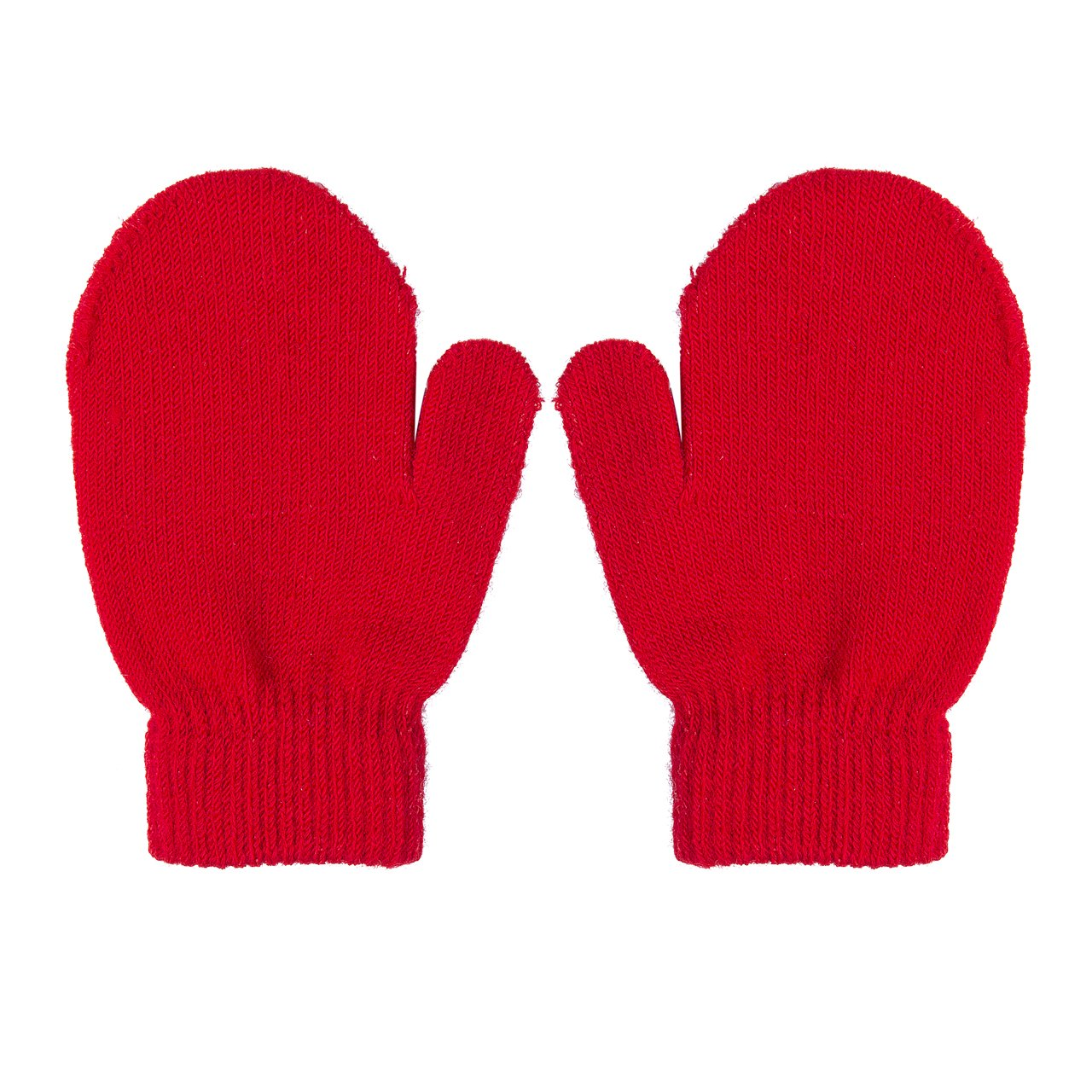 Toddlers Girls Boys Gloves 1 Pair Winter Kids Warm Knitting Gloves Stretch Magic Mittens