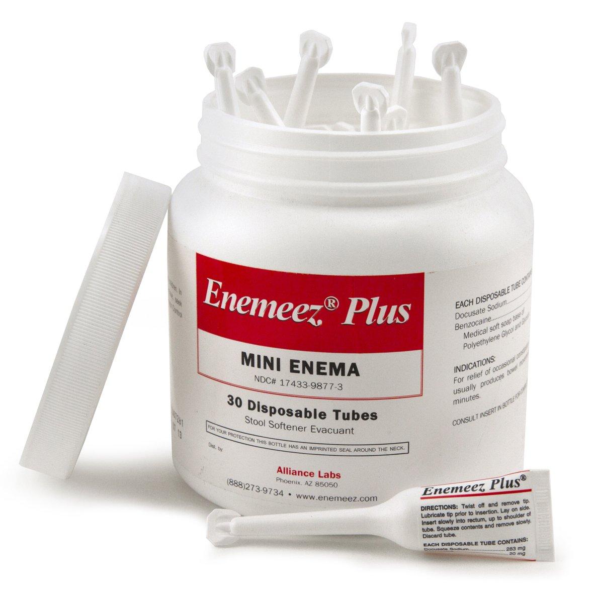 Enemeez Plus Enema Case of 6 Jars, 180 Single-use Mini Enemas by Western Research Laboratories