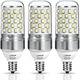 LOHAS E12 LED Candelabra Bulb, 85W Equivalent(9W LED Light Bulbs), 5000k Daylight White, T10 LED Corn Bulb, 900 Lumens, 360 Degree Beam Angle, Not-Dimmable Chandelier Light(Pack of 3)