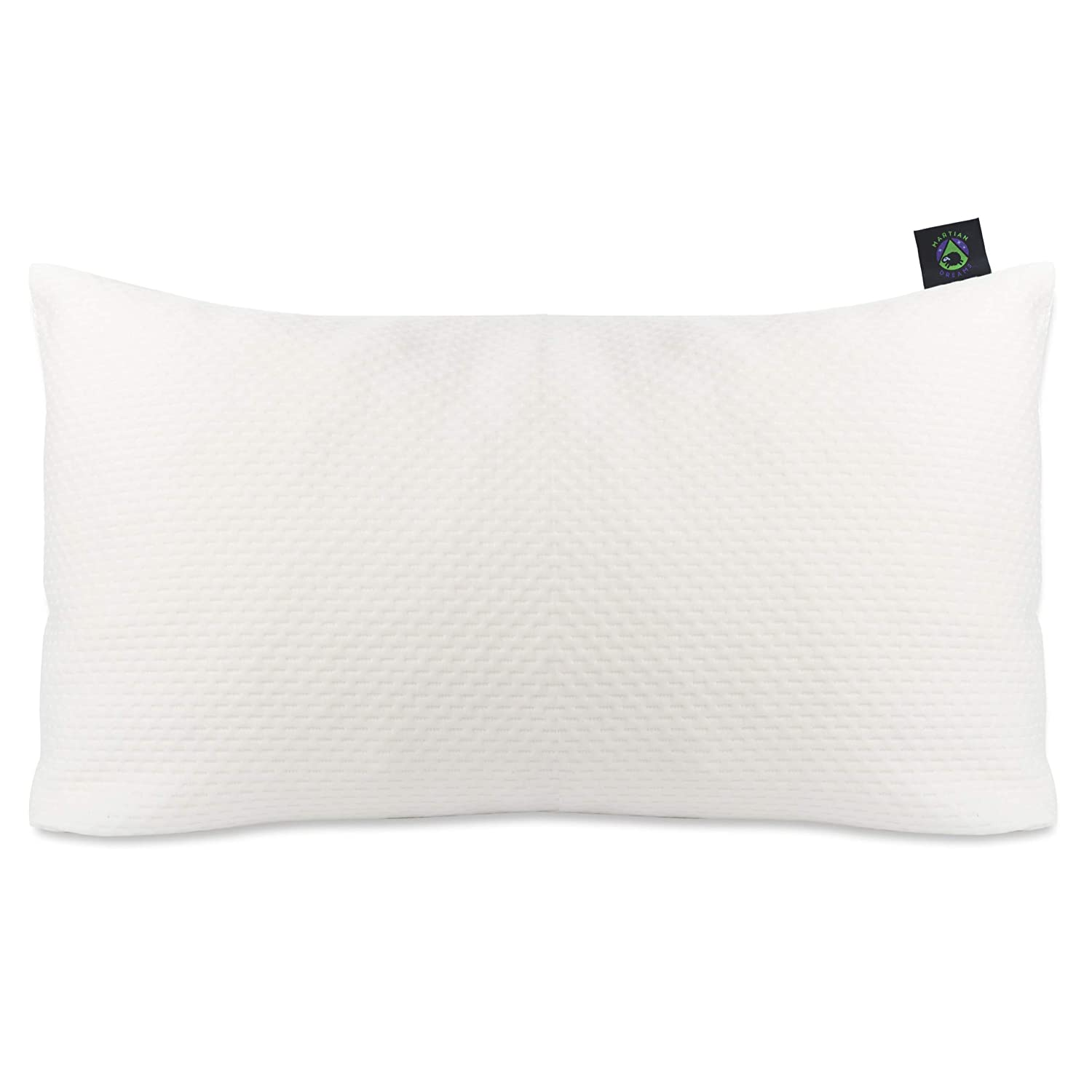 Luxury Shredded Memory Foam Pillow (Martian Dreams) - Adjustable Loft - Orthopaedic for Neck Pain - Hypoallergenic - made with Bamboo, with extra spare cover EDCAN Ltd